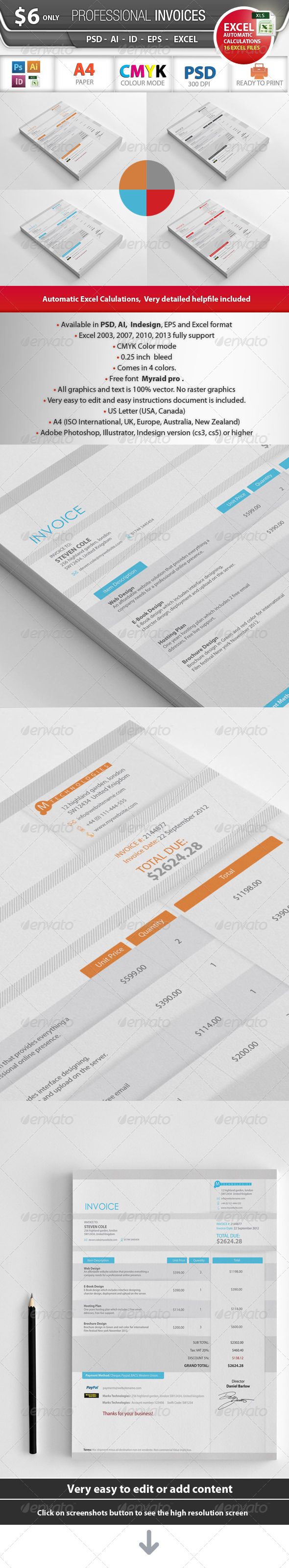 Professional Invoices - Proposals & Invoices Stationery