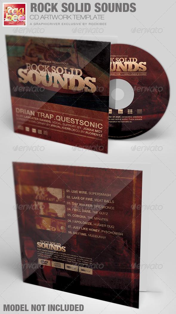 Rock Solid Sounds CD Artwork Template - CD & DVD Artwork Print Templates