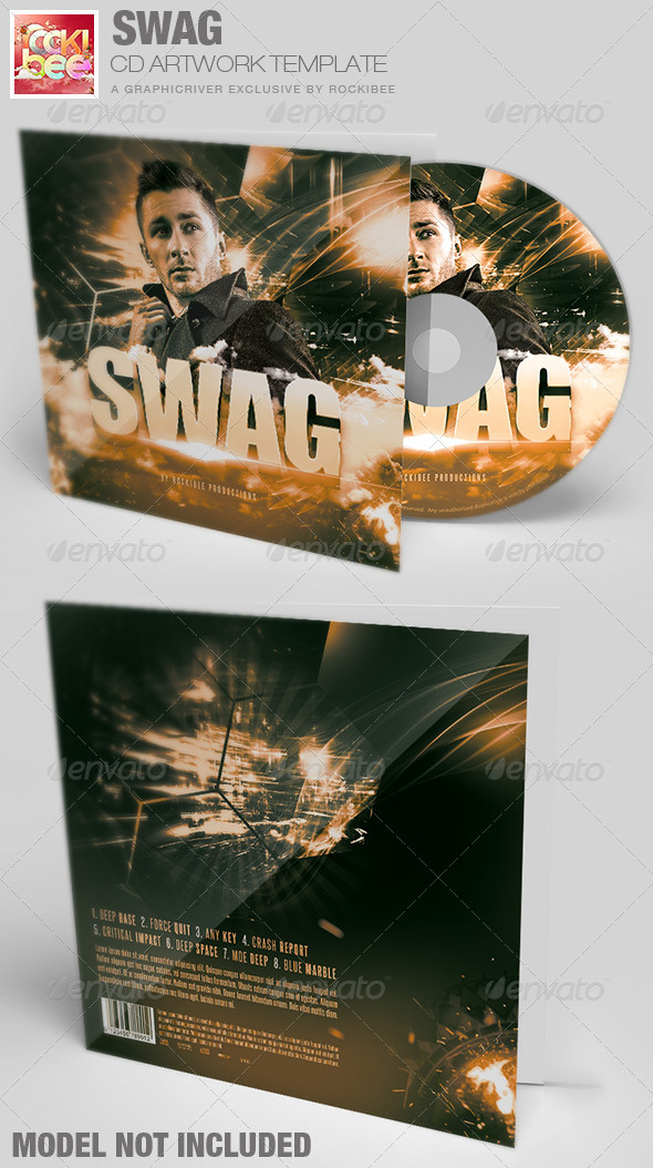 Swag CD Artwork Template - CD & DVD Artwork Print Templates