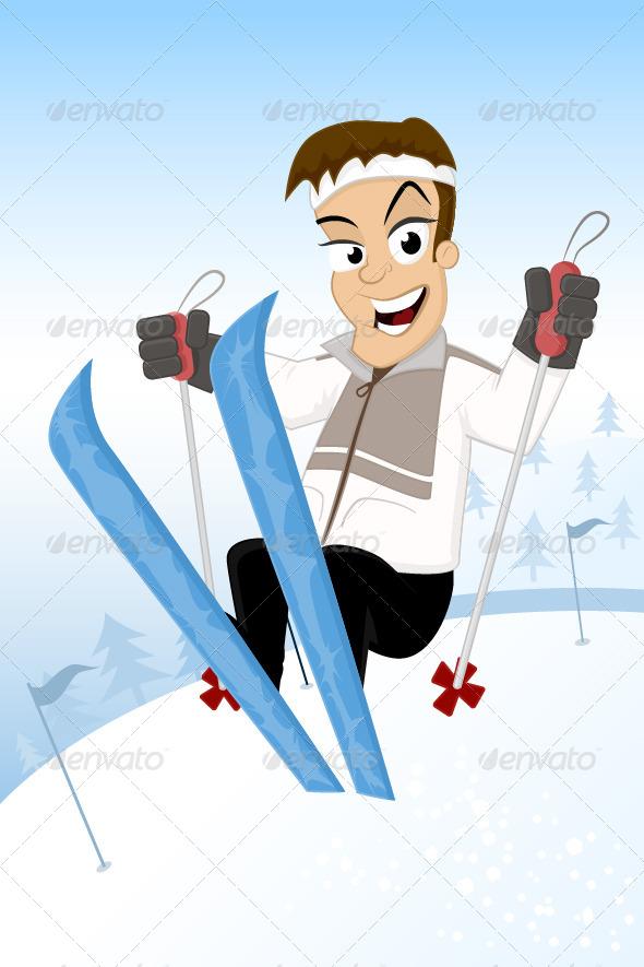 Ski Jump - People Characters