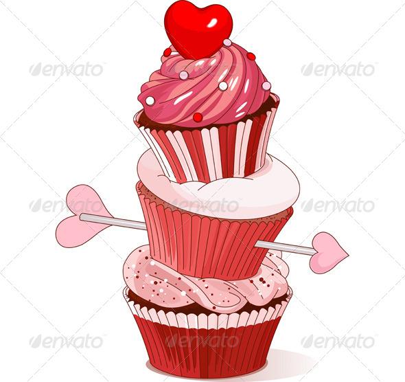 Valentine Cupcakes  - Valentines Seasons/Holidays