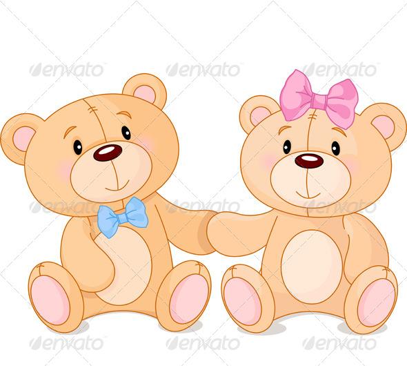 Teddy Bears in Love - Valentines Seasons/Holidays