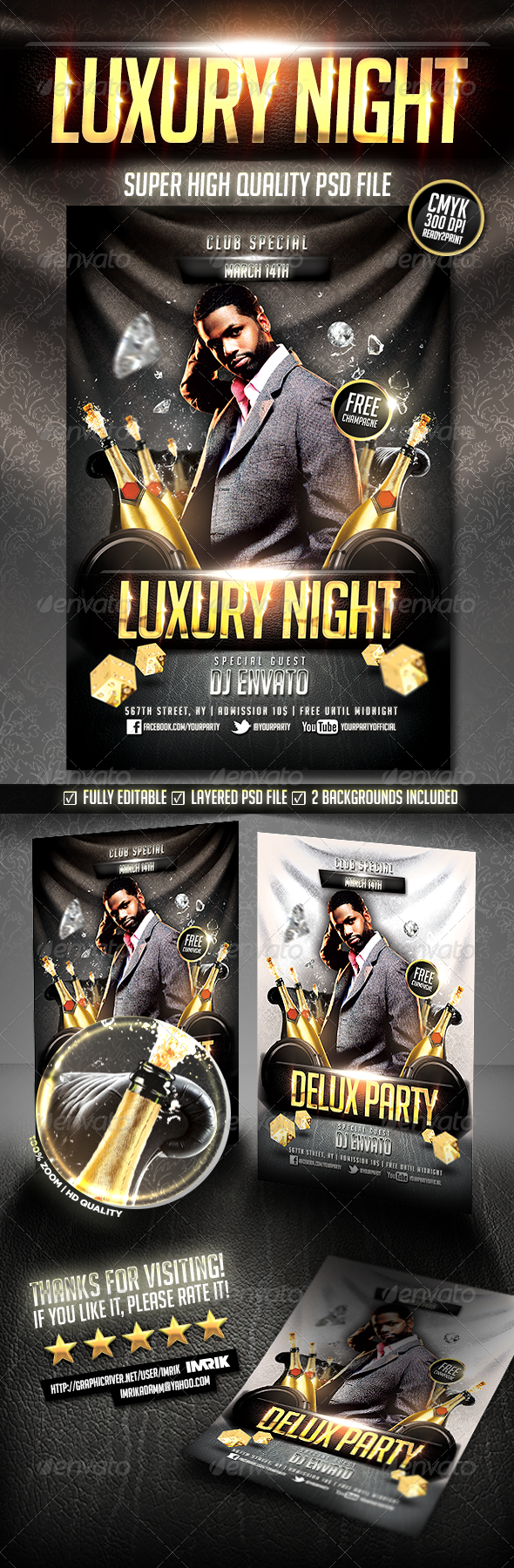Luxury Night Flyer - Clubs & Parties Events