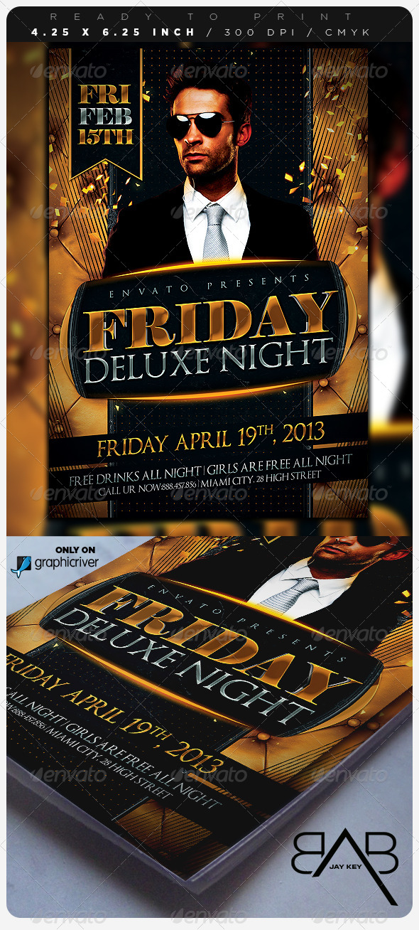 Deluxe Days Party Flyer - Events Flyers