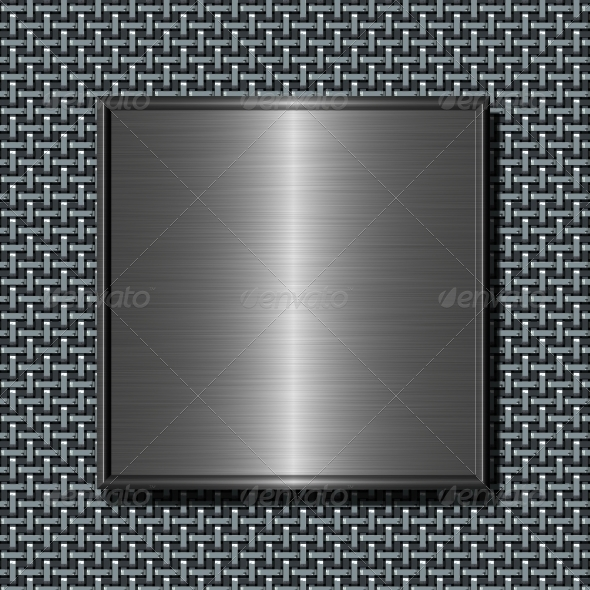 Brushed Metal Plate - Technology 3D Renders