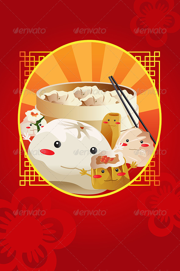 Chinese Dim Sum - Backgrounds Decorative