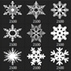 Snowflakes Vol.II - 32 Brushes Set - GraphicRiver Item for Sale