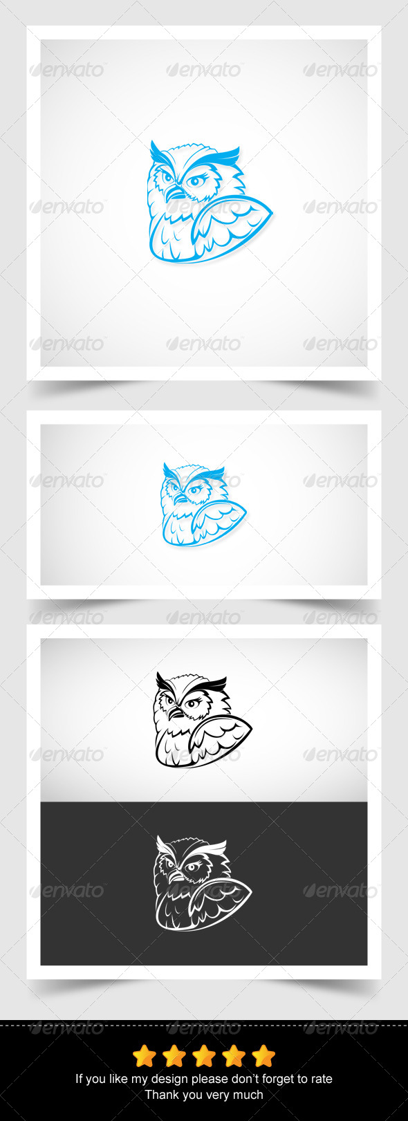 Owl Head - Animals Characters