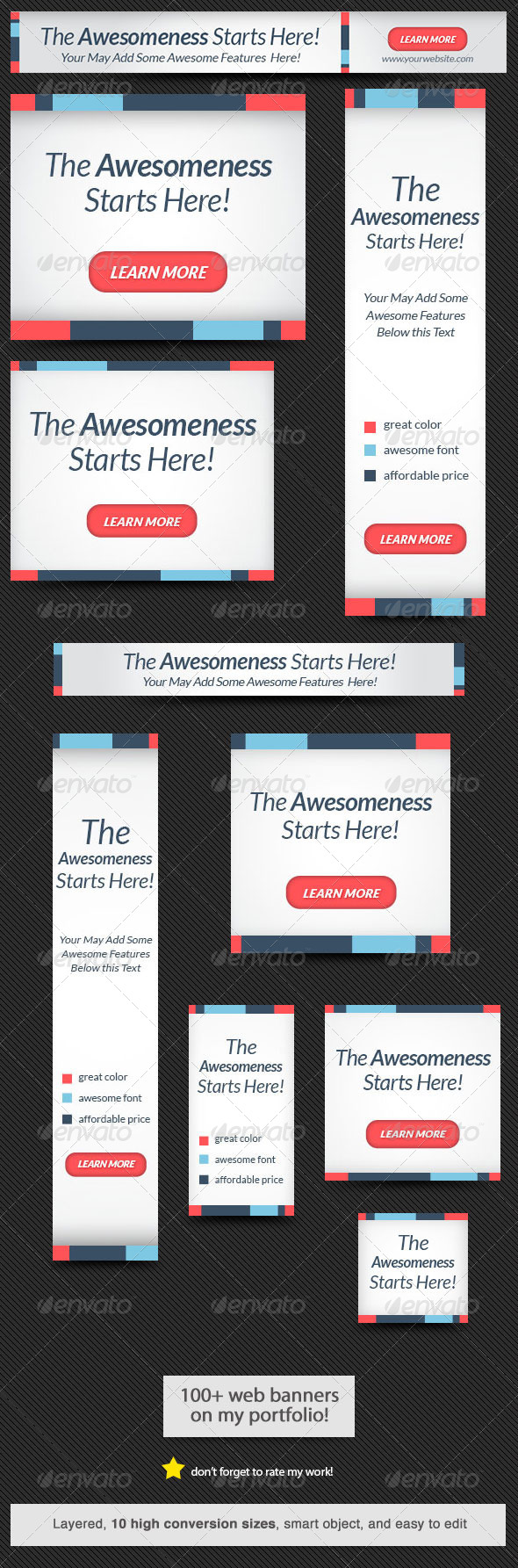 Web Banner - Banners & Ads Web Elements