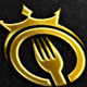 Crown, Fork Vector Logo Template - GraphicRiver Item for Sale