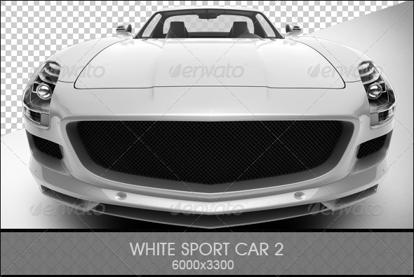 White Sport Car 2 - 3D Renders Graphics