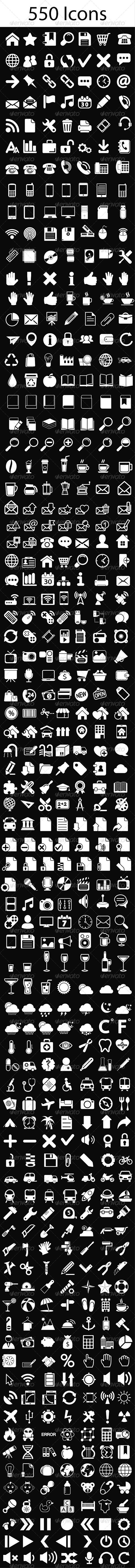 White Icons Set - Icons