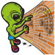 Alien Drawing a Crop Circle - GraphicRiver Item for Sale