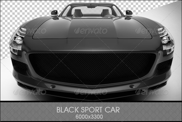 Black Sports Car - 3D Renders Graphics