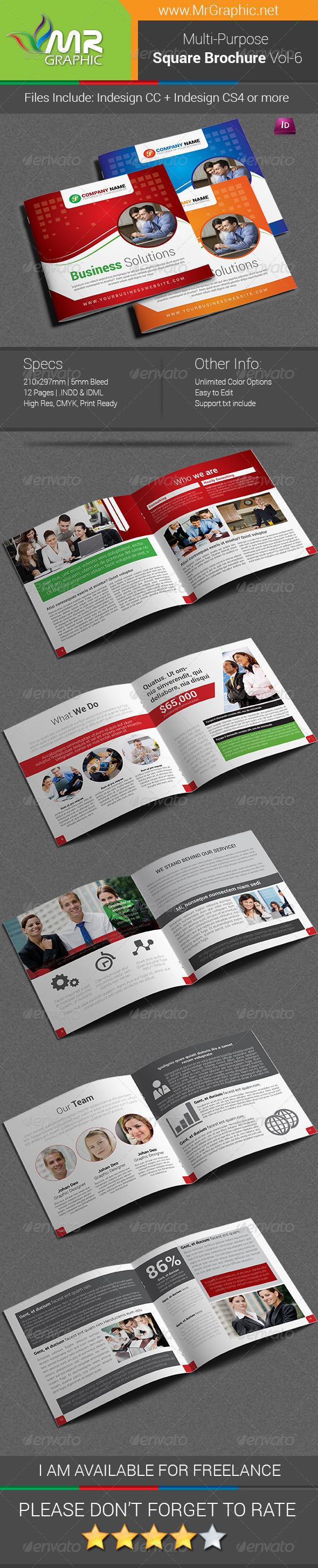 Multipurpose Square Brochure Template Vol-06 - Corporate Brochures