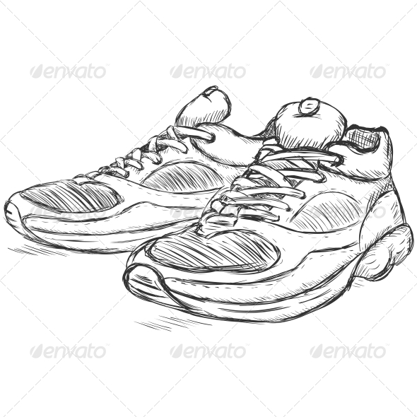 Running Shoes Sketch - Sports/Activity Conceptual