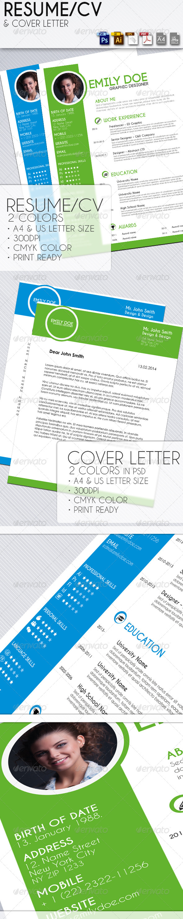 Resume with Cover Letter - Resumes Stationery