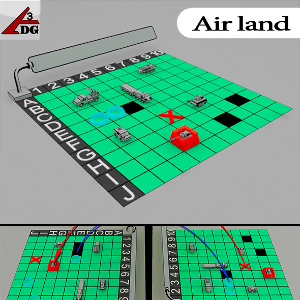 Air Land - 3DOcean Item for Sale