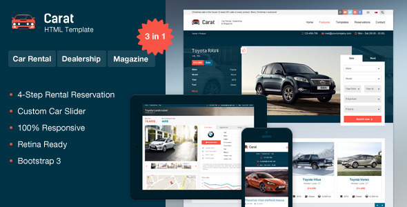 Carat – Responsive Automotive HTML Template