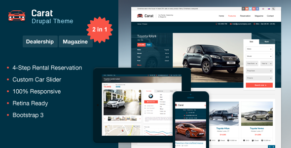 Carat – Responsive Automotive Drupal Theme