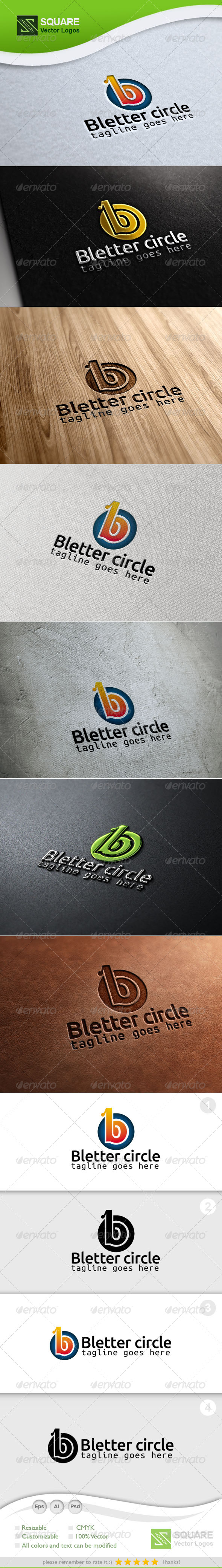 B, Circle Vector Logo Template - Letters Logo Templates