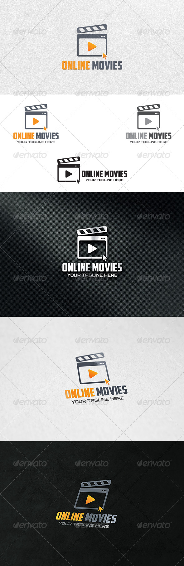 Online Movies - Logo Template - Objects Logo Templates