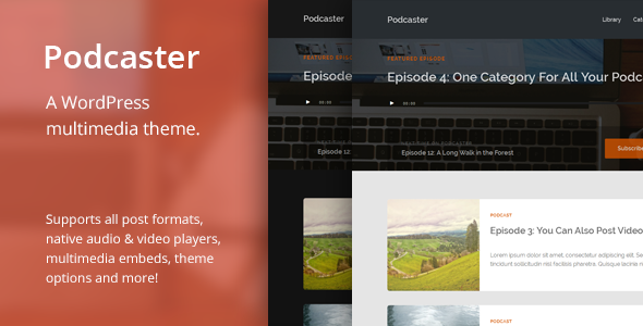 Podcaster – Multimedia WordPress Theme