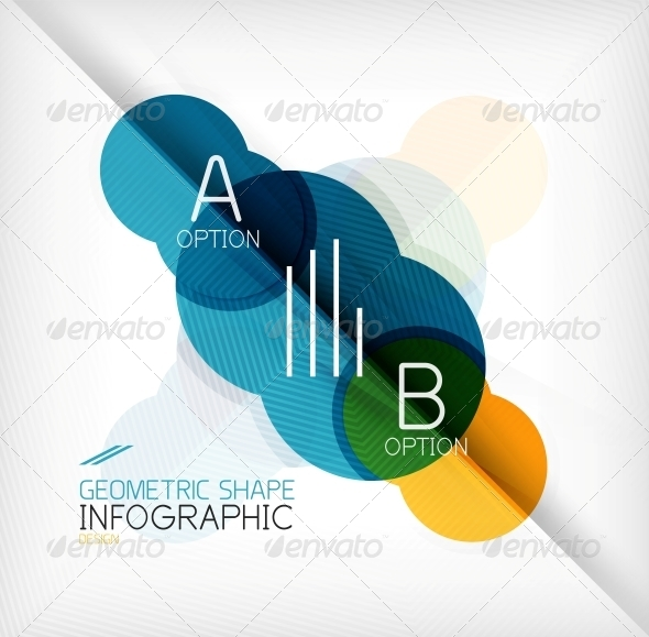 Glossy Circle Geometric Shape Info Background - Abstract Conceptual