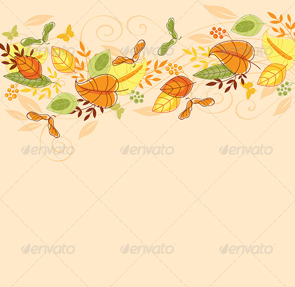 Background with Autumn Leaves - Seasons Nature