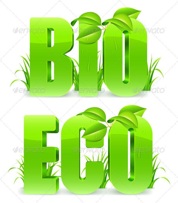 Bio and Eco Words - Health/Medicine Conceptual