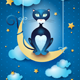 Cat and Moon - GraphicRiver Item for Sale