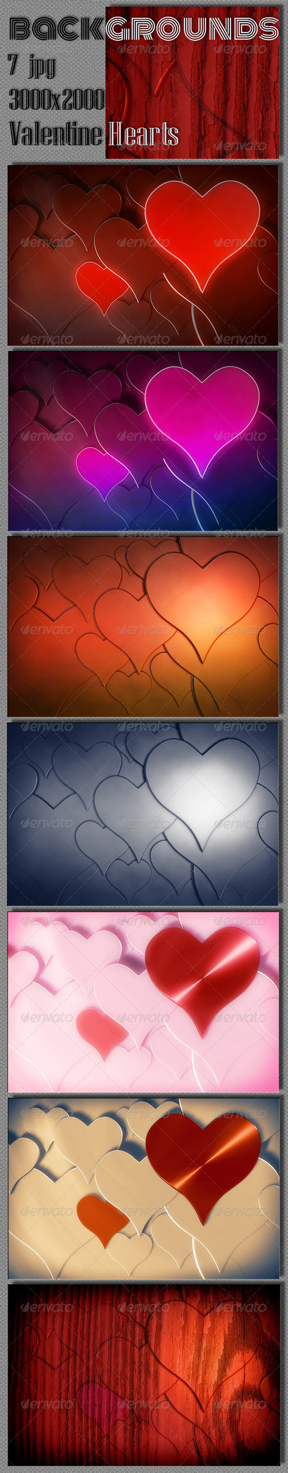 Valentine's Day Backgrounds - 3D Backgrounds