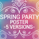 Spring Party Poster - GraphicRiver Item for Sale