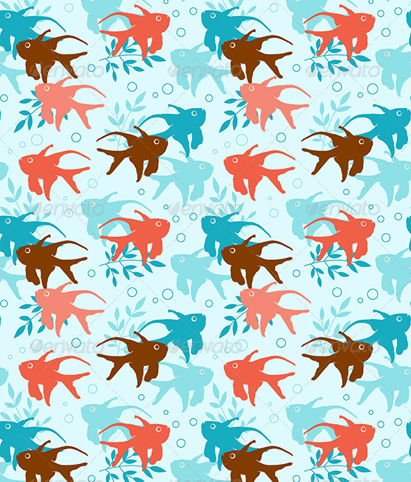 Seamless Pattern with Tropical Fish - Patterns Decorative