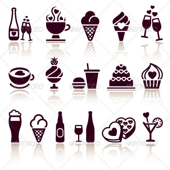 Set Food Icons - Food Objects