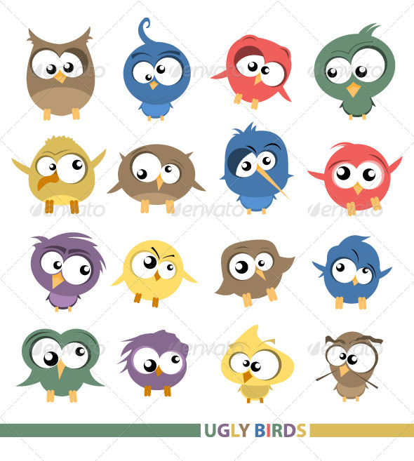 Ugly birds - Animals Characters
