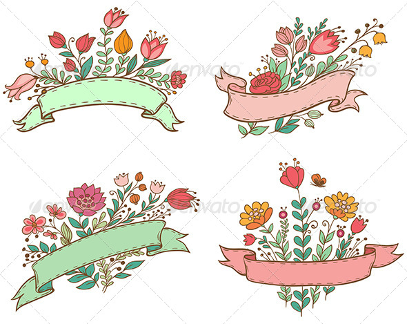 Banners with Flowers - Flowers & Plants Nature