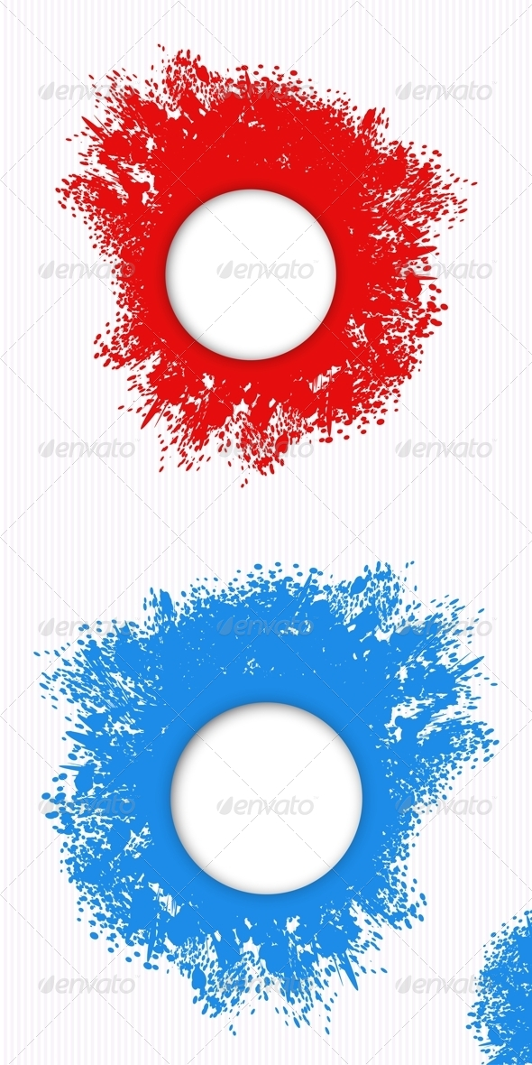 Red and Blue Splashes of Paint - Backgrounds Decorative