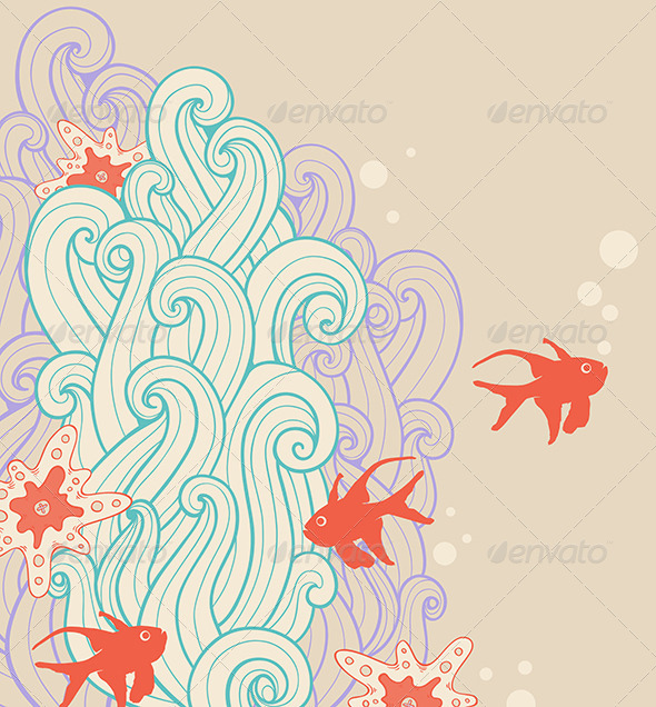 Marine Backgrounds with Fish - Seasons Nature