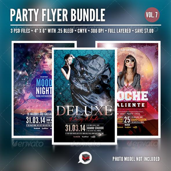 Party Flyer Bundle Vol 7 - Clubs & Parties Events
