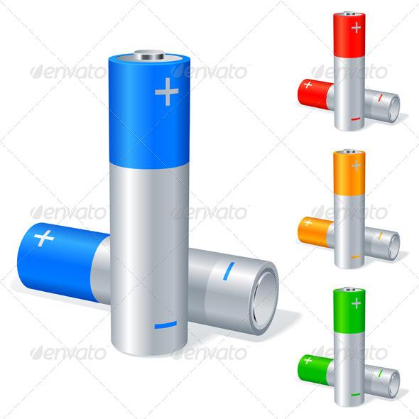 Batteries - Objects Vectors