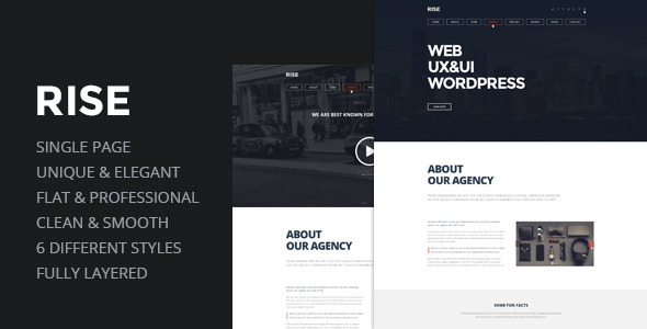 RISE –  OnePage Agency Portfolio Template