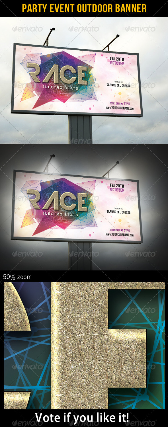 Party Event Outdoor Banner 02 - Signage Print Templates