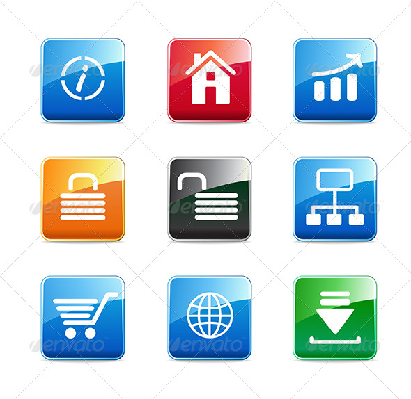 WWW Icons - Web Elements Vectors