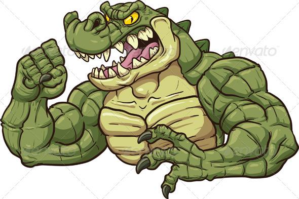Alligator Mascot - Animals Characters