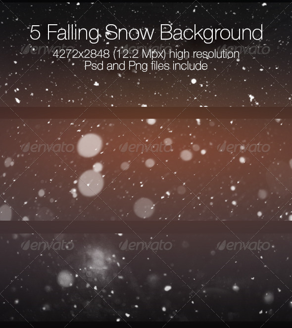 Falling Snow Collection - Abstract Backgrounds