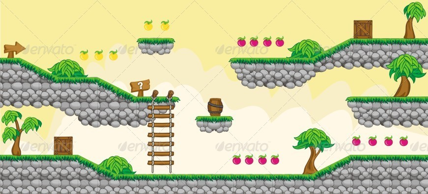 Platformer Game Tile Set 7