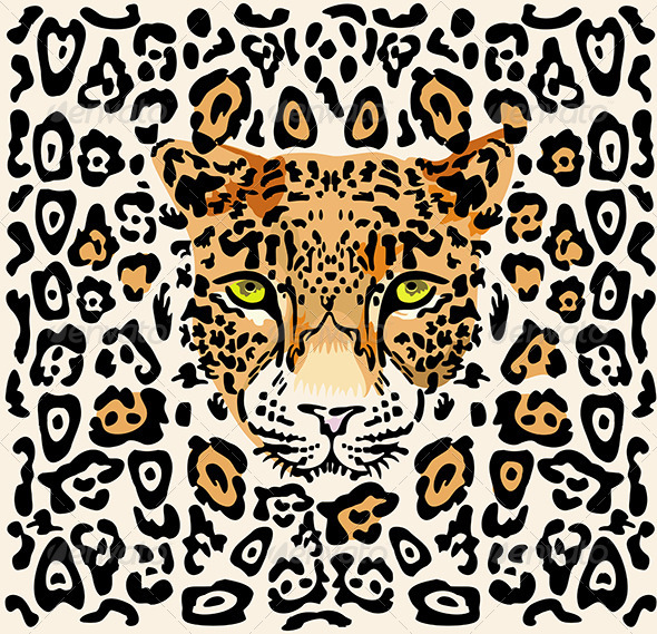 Pattern with Leopard Muzzle - Animals Characters