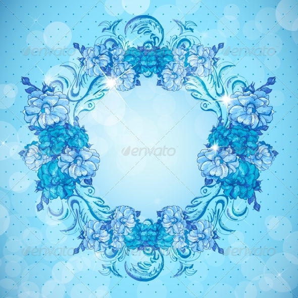 Floral Frame in Vintage Style - Backgrounds Decorative