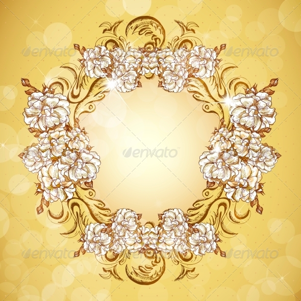 Floral Frame in Vintage Style - Patterns Decorative